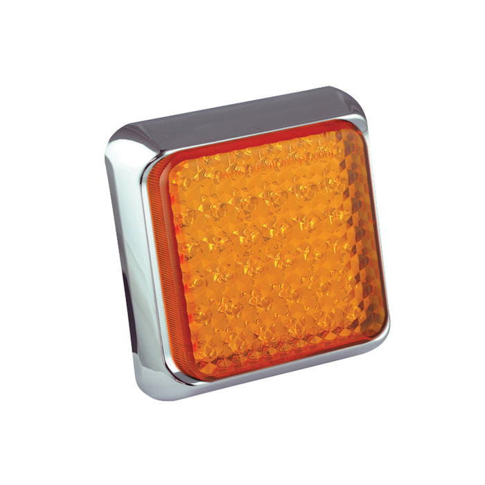 Square Indicator Lamp (Chrome)