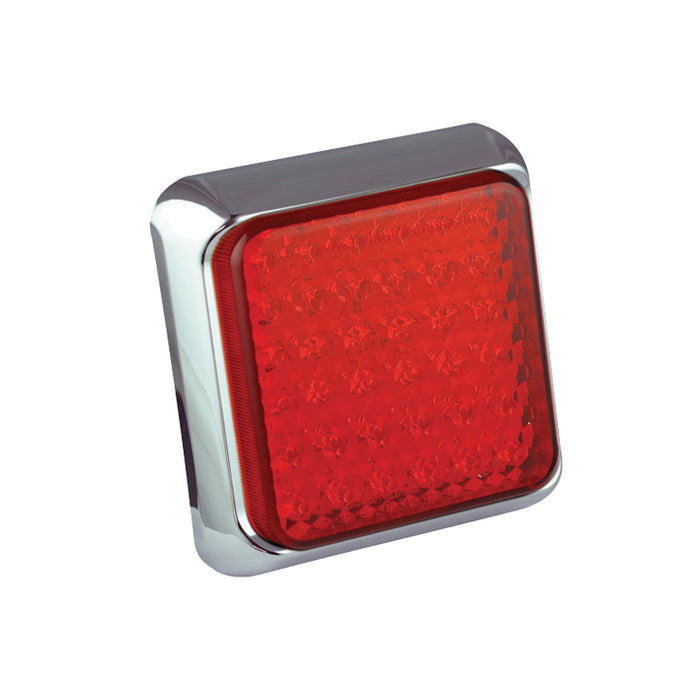Square Stop/Tail Lamp (Chrome)