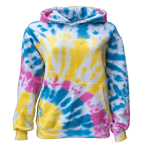 MULTI BLAST BOTTOM SIDE BEAMS HOODIE - USA TIEDYE COMPANY