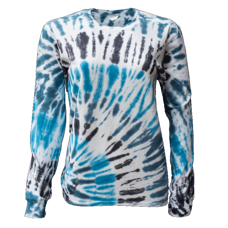 TYPHOON BOTTOM SIDE BEAMS L/S T-SHIRT - USA TIEDYE COMPANY