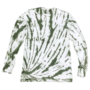 MOSSY BOTTOM SIDE BEAMS L/S T-SHIRT - USA TIEDYE COMPANY