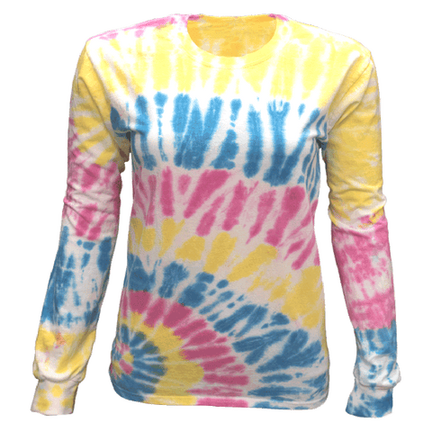 MULTI BLAST BOTTOM SIDE BEAMS L/S T-SHIRT - USA TIEDYE COMPANY