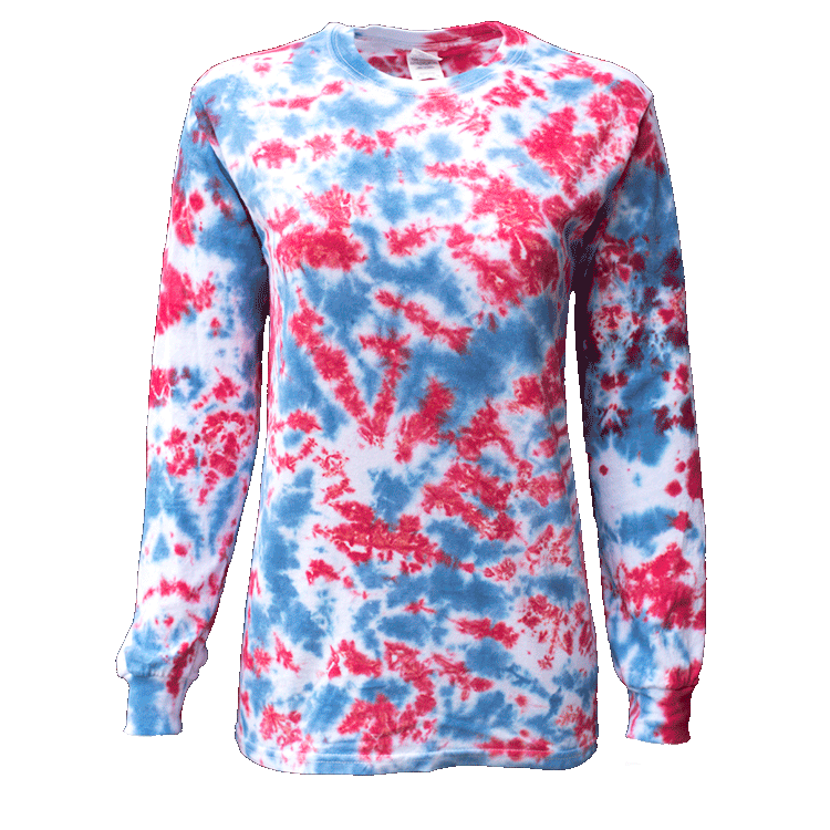 USA CRACKLES L/S T-SHIRT - USA TIEDYE COMPANY