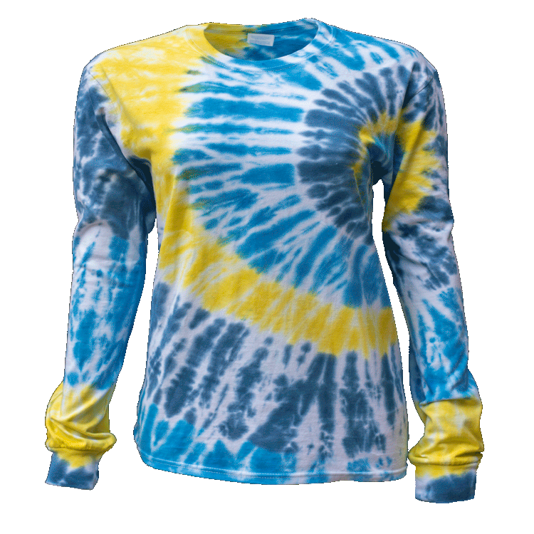 TORNADO SIDE BEAMS L/S T-SHIRT - USA TIEDYE COMPANY