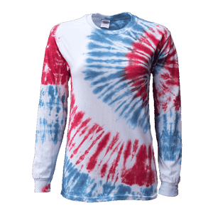 USA SIDE BEAMS L/S T-SHIRT - USA TIEDYE COMPANY