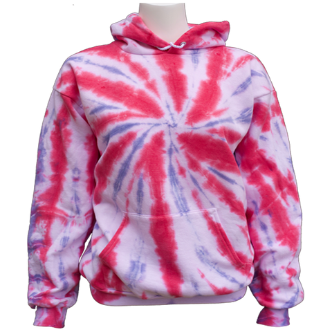 USA TIEDYE Cotton hooded sweatshirt Youth and Adult sizes.