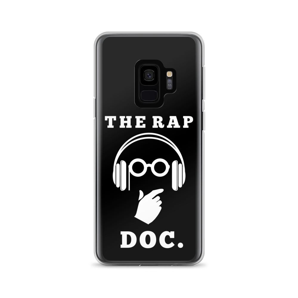 """THE RAP DOC."" Black Samsung Case"
