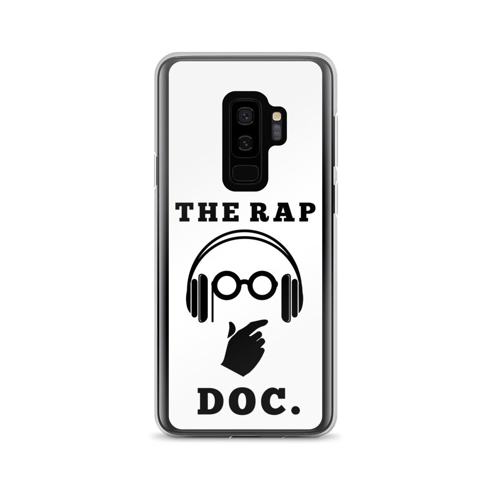 """THE RAP DOC."" White Samsung Case"