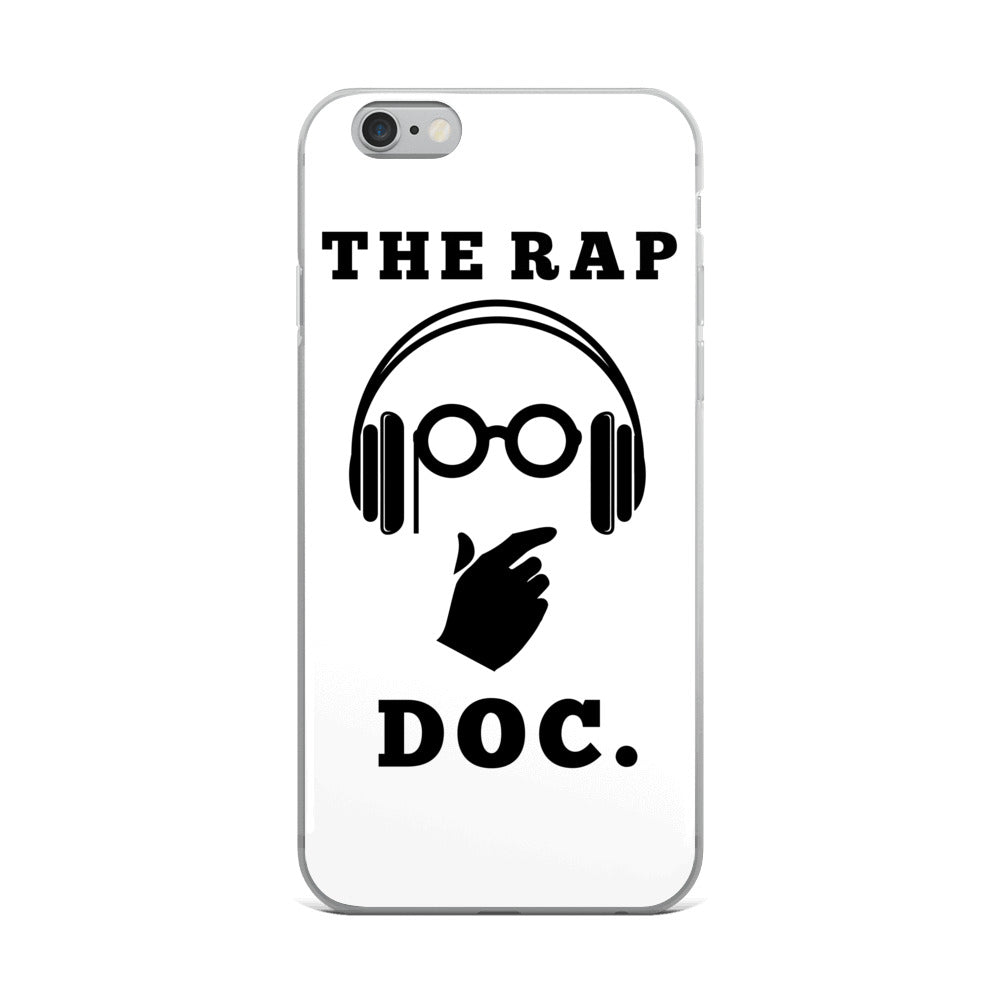 """THE RAP DOC."" White iPhone Case"
