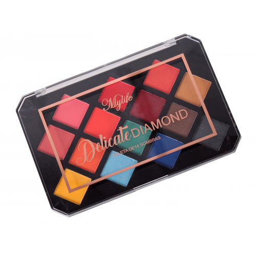 Paleta de Sombras MyLife Delicate Diamond Cor 02 (14 cores)