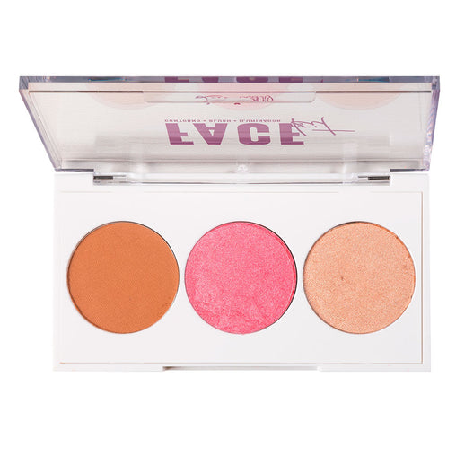 Paleta de Blush e Iluminador Luv Beauty Face Kit