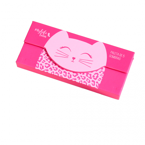 Paleta de Sombras MyLife Cat Cor 02 (5 cores + 1 Blush)