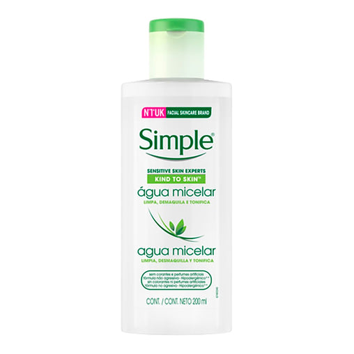 Água Micelar Simple Sem Perfume 200ml