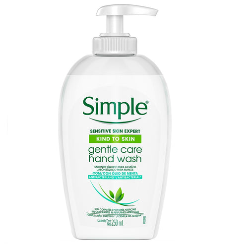 Sabonete Líquido Simple Gentle Care Hand Wash 250ml
