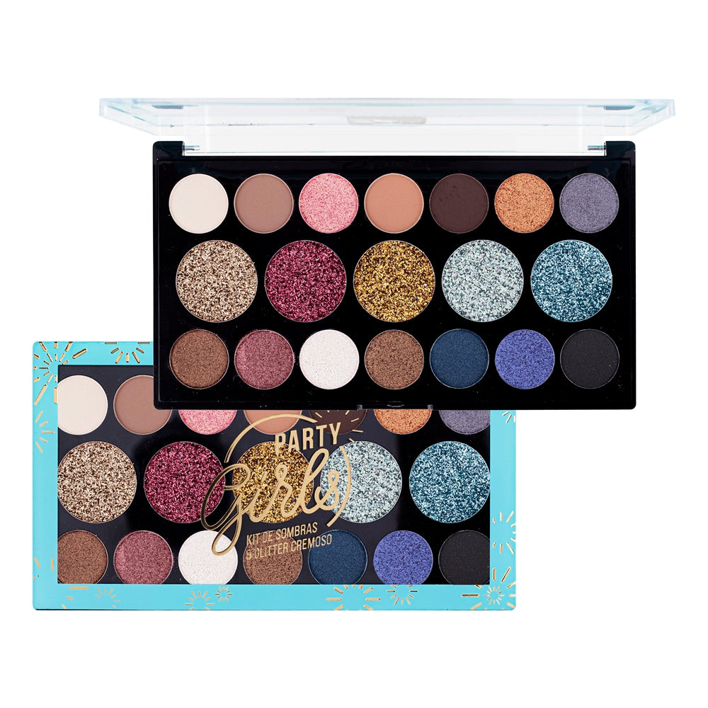 Paleta de Sombras Ruby Rose Glitter Party Girls 14 Cores