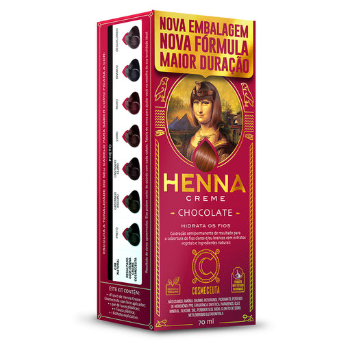 Tintura Semi Permanente Henna Cosmeceuta Chocolate 70ml