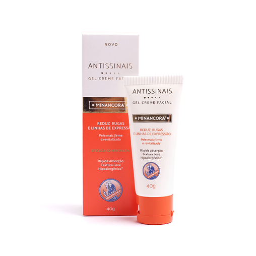 Gel Creme Facial Minancora Antissinais 40g