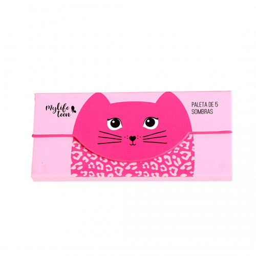 Paleta de Sombras MyLife Cat Cor 01 (5 cores + 1 Blush)