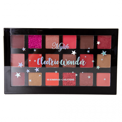 Paleta de Sombras + Gliters Wonder MyLife Cor 02