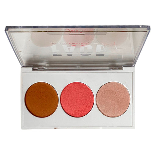 Paleta de Contorno, Blush e Iluminador Luv Beauty Face Kit 2