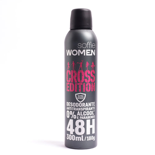Desodorante Antitranspirante Soffie Cross Edition Woman 300ml