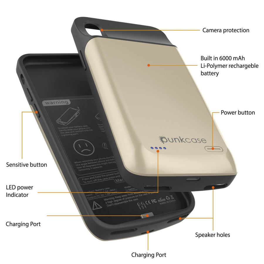 iphone XS Max Battery Case, PunkJuice 5000mAH Fast Charging Power