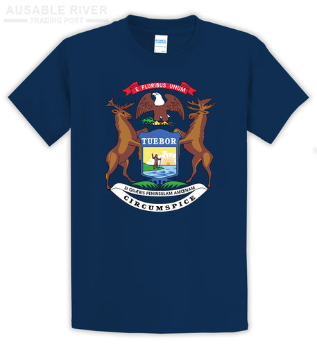 Michigan State Seal Shirt - Color