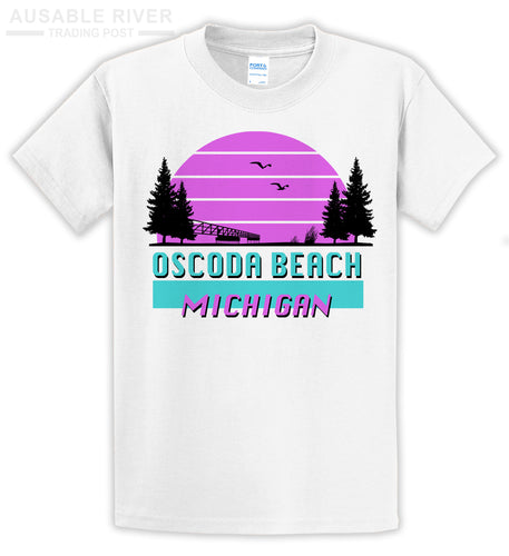 Retro Oscoda Beach Shirt