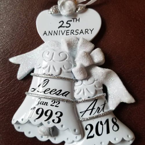 25th Anniversary Keepsake Ornament