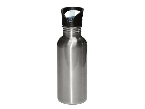 600ml Stainless Steel Bottle Silver Blank
