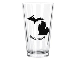 Corkology Michigan Pint Glass, Clear