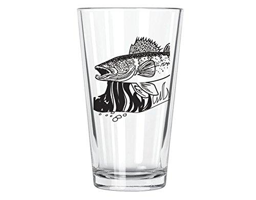 Corkology Walleye Pint Glass, Clear
