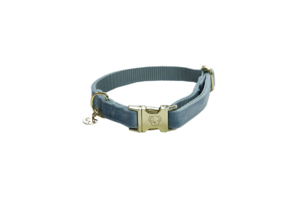 HALSBAND VELVET LIGHT BLUE