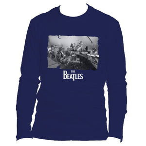 The Beatles Playing Live - Mens Navy Long Sleeve T-Shirt