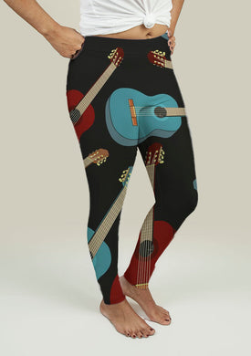Leggings with Guitars