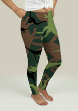 Load image into Gallery viewer, Leggings with Dinosaur Camouflage