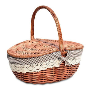 Wicker Camping Picnic Basket