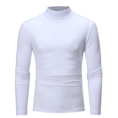 Men Casual Turtleneck Long sleeve Cotton