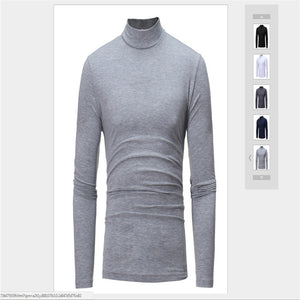 Men Casual Turtleneck Long sleeve Cotton - Papa Online Discount Store