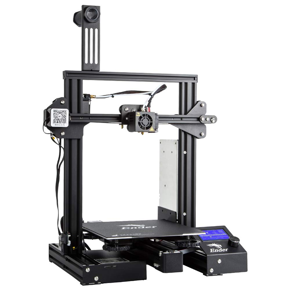 3D Printer with Removable Build Surface Plate and UL Certified Power Supply
