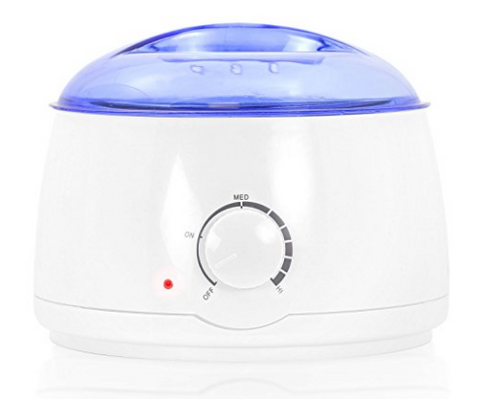 Portable Electric Hot Wax Warmer Machine for Hair Removal - Blue Lid