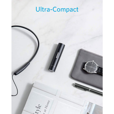 Lipstick-Sized Portable Charger - Black