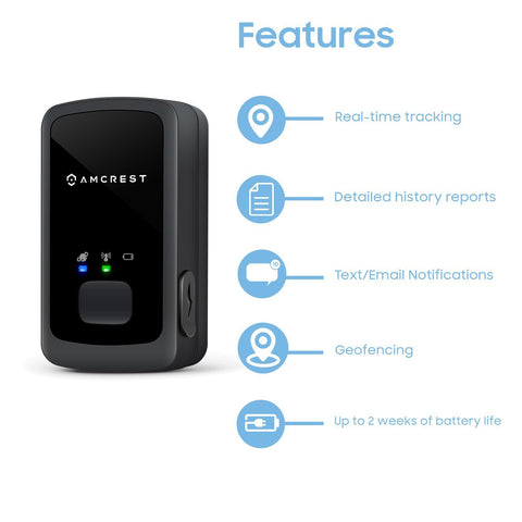 Amcrest AM-GL300 V3 Portable Mini Real-Time GPS Tracker for Vehicles