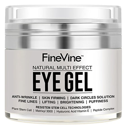 Anti Aging Eye Gel - Made in USA - for Dark Circles, Puffiness, Wrinkles, Bags, Skin Firming, Fine Lines and crows feet