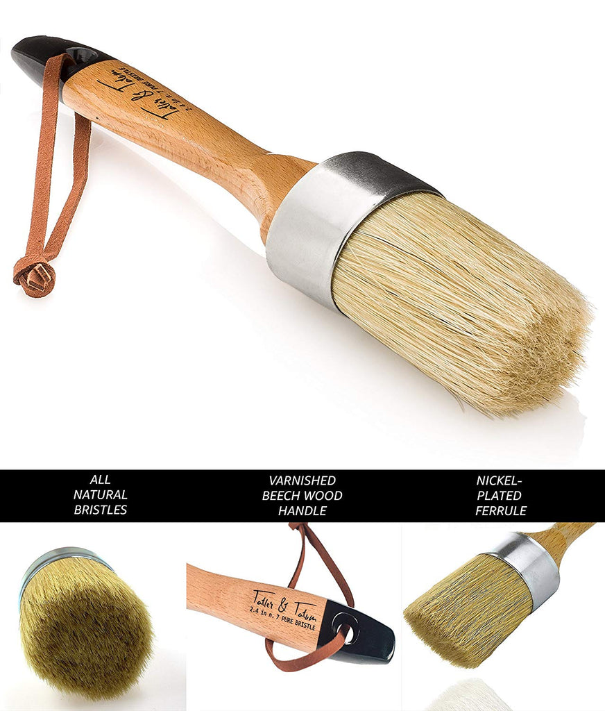 Professional Chalk & Wax Paint Brush for Furniture