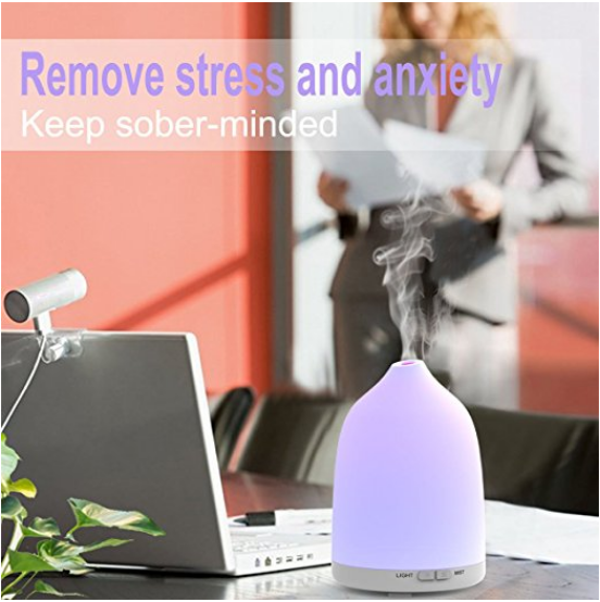 Essential Oil Diffuser, Avaspot 120ml Portable Ultrasonic Aroma Diffuser, Cool Mist Humidifier for Aromatherapy 7 LED Colors