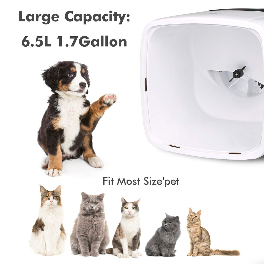 Automatic Pet Feeder 6.5L Auto Pet Dog Gravity Feeder Food Dispenser