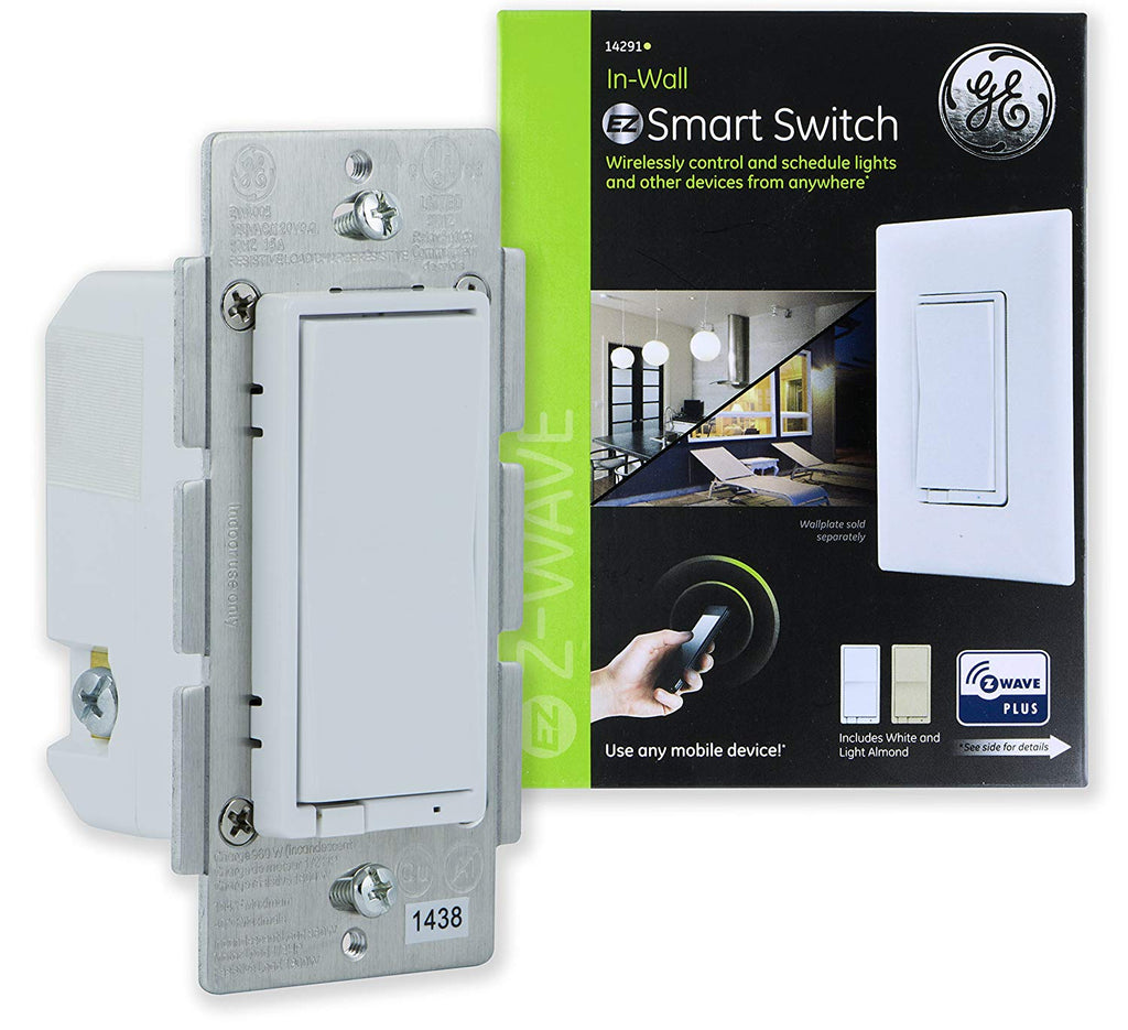Enbrighten Z-Wave Plus Smart Light Switch, On/Off Control, in-Wall