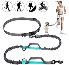 Hands Free Dog Leash Waist Belt