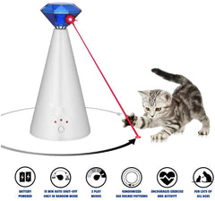 Interactive Automatic Laser Cat Toy With Pointer For Pets